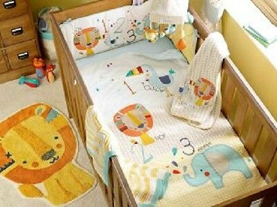 Brand New Next Baby Little Zoo Nursery Bed In A Bag Bedding Set