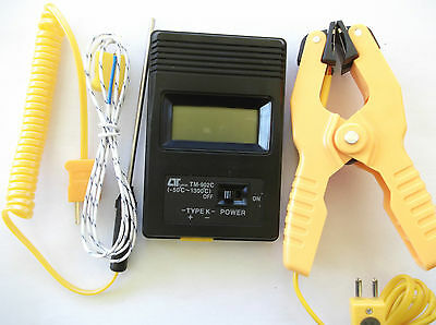 DIGITAL THERMOMETER THERMOCOUPLE  K TYPE -50 to 1300 deg C WITH 3 PROBES