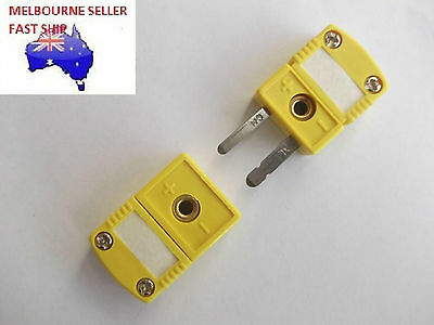 Type K Thermocouple Mini Connector  Plug  And  Socket Flat Pin