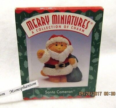 Hallmark Christmas Merry Miniatures Santa Cameron Cat 1996 1997 Figurine