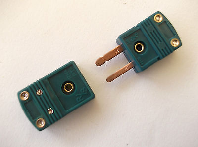 Type R Thermocouple Mini Connector  Plug  And  Socket Flat Pin