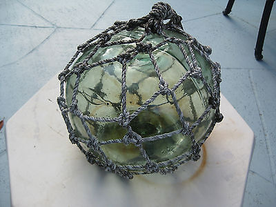 Japanese Glass Fish Net Floats  Light Green -  Medium