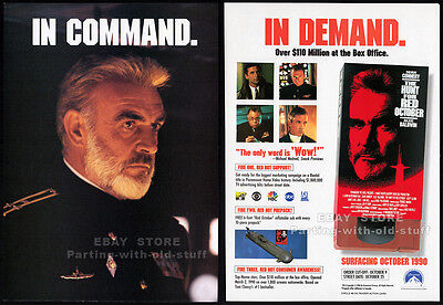 THE HUNT FOR RED OCTOBER__Original 1990 Trade Print AD movie promo__SEAN CONNERY