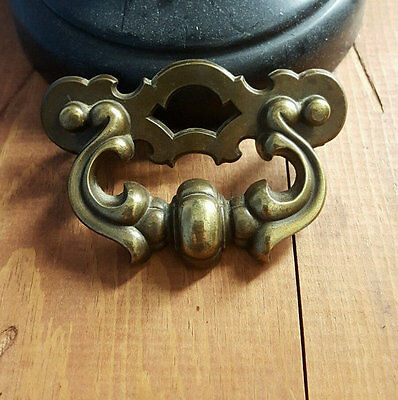 Vintage Sturdy Brass Drawer Handle Drawer Pull Nice Patina