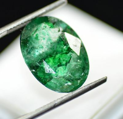 Exquisite 9.65 Ct Natural Oval Shape EGL Certified Green Emerald