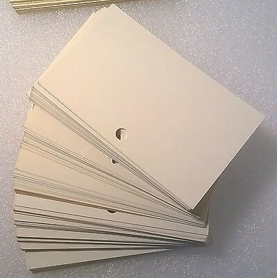 vintage card catalog cards with hole punch about 120