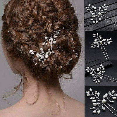Wedding Bridal Pearls Crystal Clips Comb Hair Pins Bridesmaid Hair Accessories