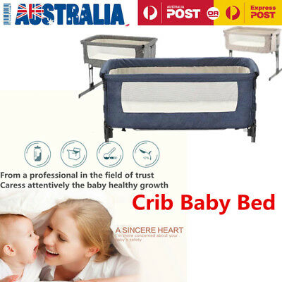 Cosy Time Beside Time Beside Co Sleeper Blue Bassinet Cot Crib Baby Bed
