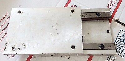 """Micro RW236-6.  6"""" Cross Roller Bearing Linear Slide Rail and mounting plates."""