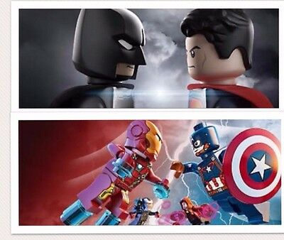 Lego DC Comic Marvel Super Heroes Minifigures loose removed from new Lego sets