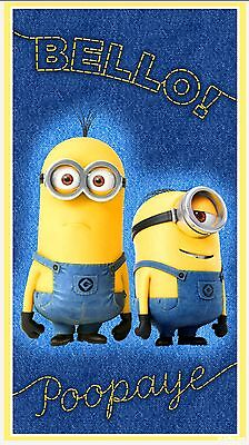 Minions Quilt Panel * Greetings Kevin & Stuart * New * In Stock * Free Post *