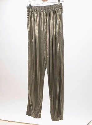 Vintage Clio Deadstock Sheer Disco Pants Metallic Sheen Size Large NWT