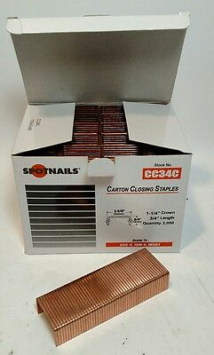 Spot Nails CC34C 1-1/4-Inch Crown 3/4-Inch Leg Carton Closing Staples  2000