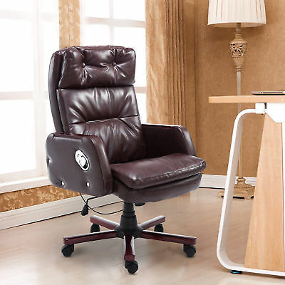 "HOMCOM 43.7"" Reclining Office Chair Seat w/ Adjustable Backrest & Remote Control"