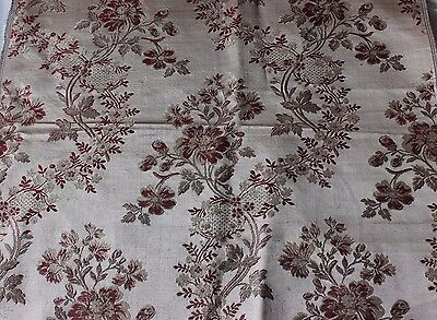 French Antique 19thC Silk Home Dec Brocade Sample Fabric c1860~18thC Style*