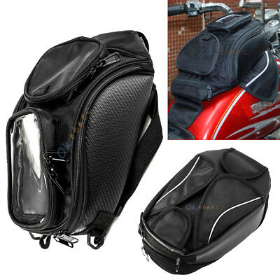 Universal Magnetic Motorcycle Motorbike Oil Fuel Tank Saddle Bag For Travel