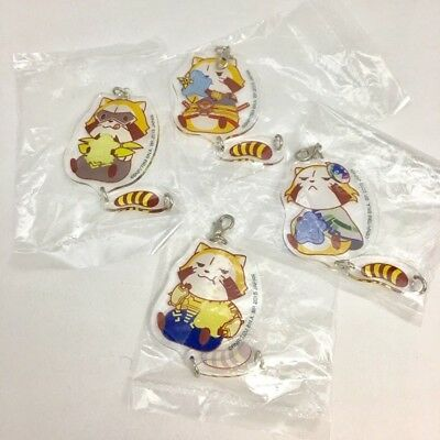 Tiger and Bunny The Rising X RASCAL the Raccoon  Acrylic Charm Set of 4