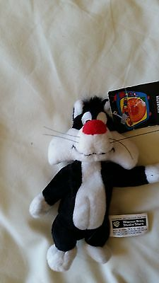 Sylvester Cat mini bean bag plush toy Looney Tunes Warner Store  with tags LOOK