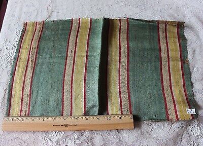 Antique French Heavy Silk Home Dec 18thC (1780) Silk Stripe Fabric