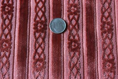 "Lovely Antique French Silk Cut Velvet Raspberry Sample Fabric~Dolls~12""L X 11""W"