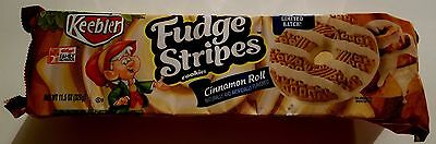 NEW Keebler Fudge Stripes Cookies Cinnamon Roll Flavor FREE WORLDWIDE SHIPPING