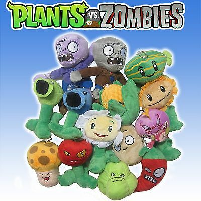 "plants vs zombies plush toys dolls 3.5""- 7"" **Choose your character**"