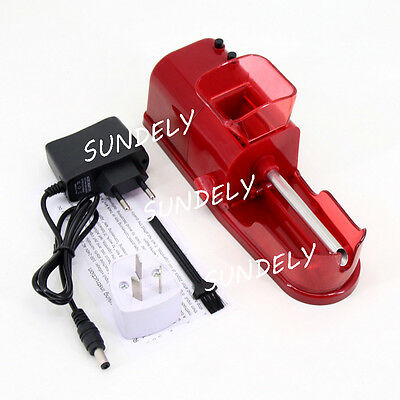 Red Cigarette Tobacco Rolling Machine Roller Maker Automatic Electric Injector