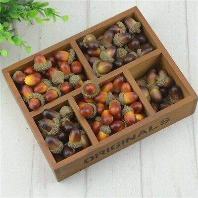 20pcs 3cm Acorns Mini Artificial Fake Foam Fruits and Vegetables Berries Flowers