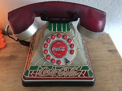 Vintage Coca-Cola Tiffany Stained Glass Style Telephone