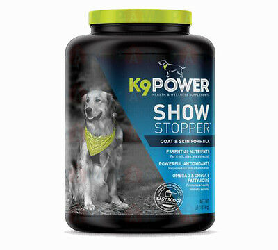 K9 Power Show Stopper 4LB Dog Healthy Coat and Skin Formula Supplement 1.8KG