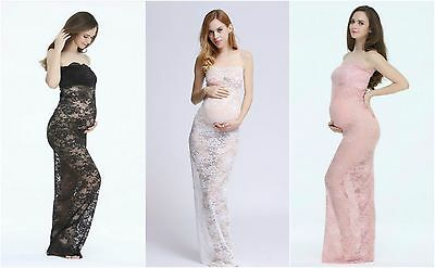 Lace Form Fitting Maternity Dresses - Photography Photo Prop - Multiple Colors