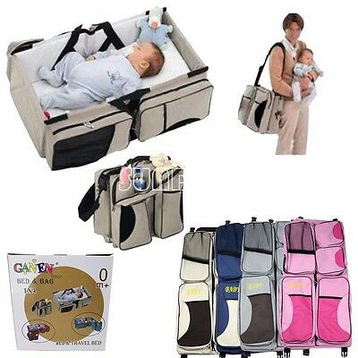NEW! 3 in 1 Travel Bassinet Diaper Bags & Portable Crib Changing Station New