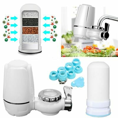 Kitchen Water Filter Mount Water Purifier+Washable Ceramic Cartridge Tap Faucets