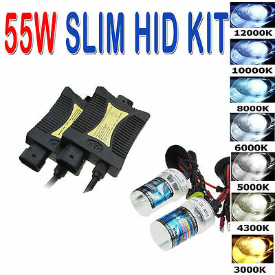 55W HID Xenon Headlight Conversion KIT H1/H3/H4/H7/H11/9005/9006/880/881/9004 KF
