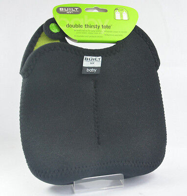 Built NY  Double Thirsty Tote Neoprene Insulated Baby Bottle Bag Tote Holder NEW