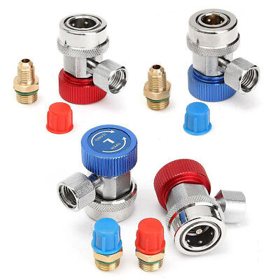 R134A High Low Quick Coupler Connector Adapters Type AC Manifold Gauge Auto Set