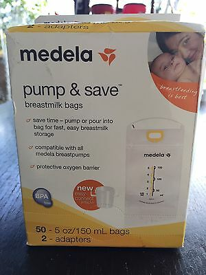 Medela Pump And Save breast milk bags 50 count.