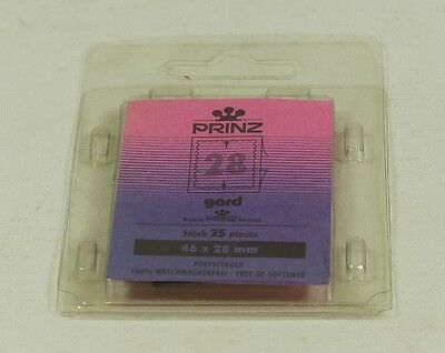 Prinz Gard Stamp mounts 46 x 28mm high pack of 25 mounts - clear backed