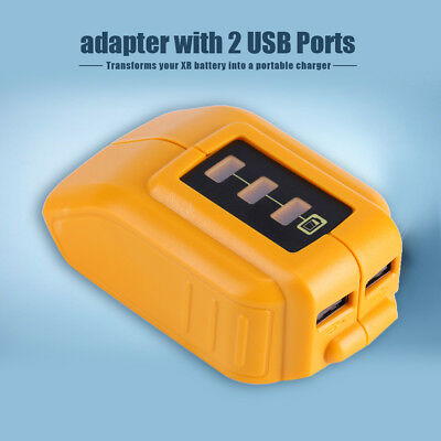 USB Mobile Battery Charger Adapter For Dewalt DCB184 DCB090 Slide Battery AM