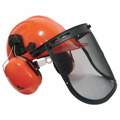 Forestry Chainsaw Safety Helmet Hat, Ear Defenders, Metal Visor For Stihl Users