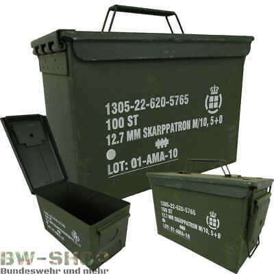 Original Dänische Armee Munitionskiste Metall Us Ammo Box Transportkiste Kiste
