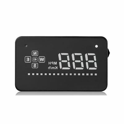 "Head Up Display 3.5"" A2 GPS Car HUD Overspeed Warning Speedometer Cigarette Port"