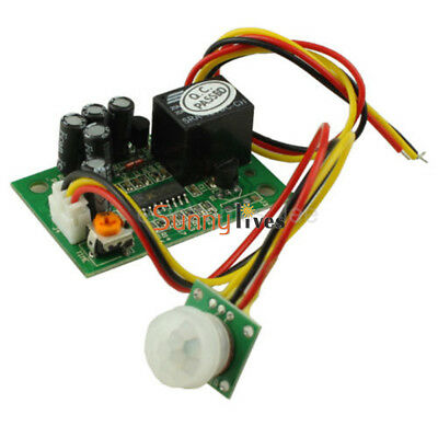 New 12V PIR IR Pyroelectric Infrared Module Adjust Relay Output Sensor