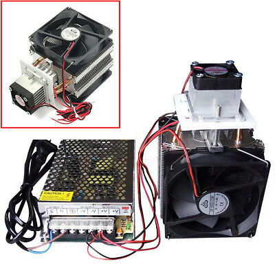 Thermoelectric Peltier Refrigeration Cooling System Kit Cooler with Power Supply