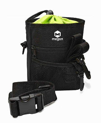 Megon Dog Treat Pouch - Carries Treats and Toys - Built-In Poop Bag Dispenser