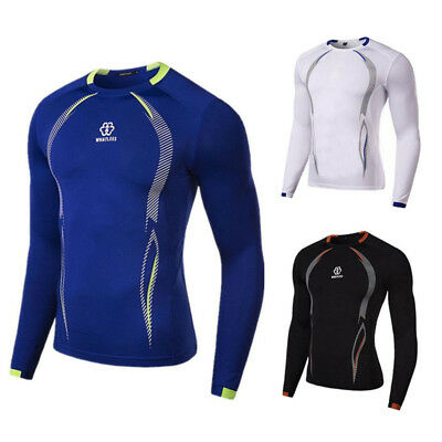 Mens Compression Armour Base Layer Top Skin Fit Tight Shirt Gym Sport Clothing