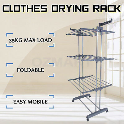 Durable Foldable Drying Rack Clothes Airer 6 Tiers Thicker Indoor Garment Hanger