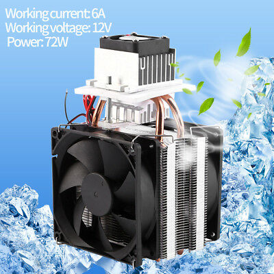 12V 6A 72W Thermoelectric Peltier Refrigeration Cooling System Kits Cooler Fan