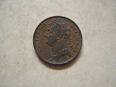 Copper Farthing 1822 Coin King George Iv Extremely Fine Grade