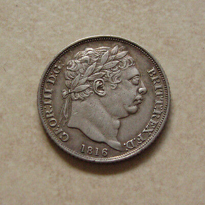 Silver Sixpence 1816 Coin King George Iii Extremely Fine Grade